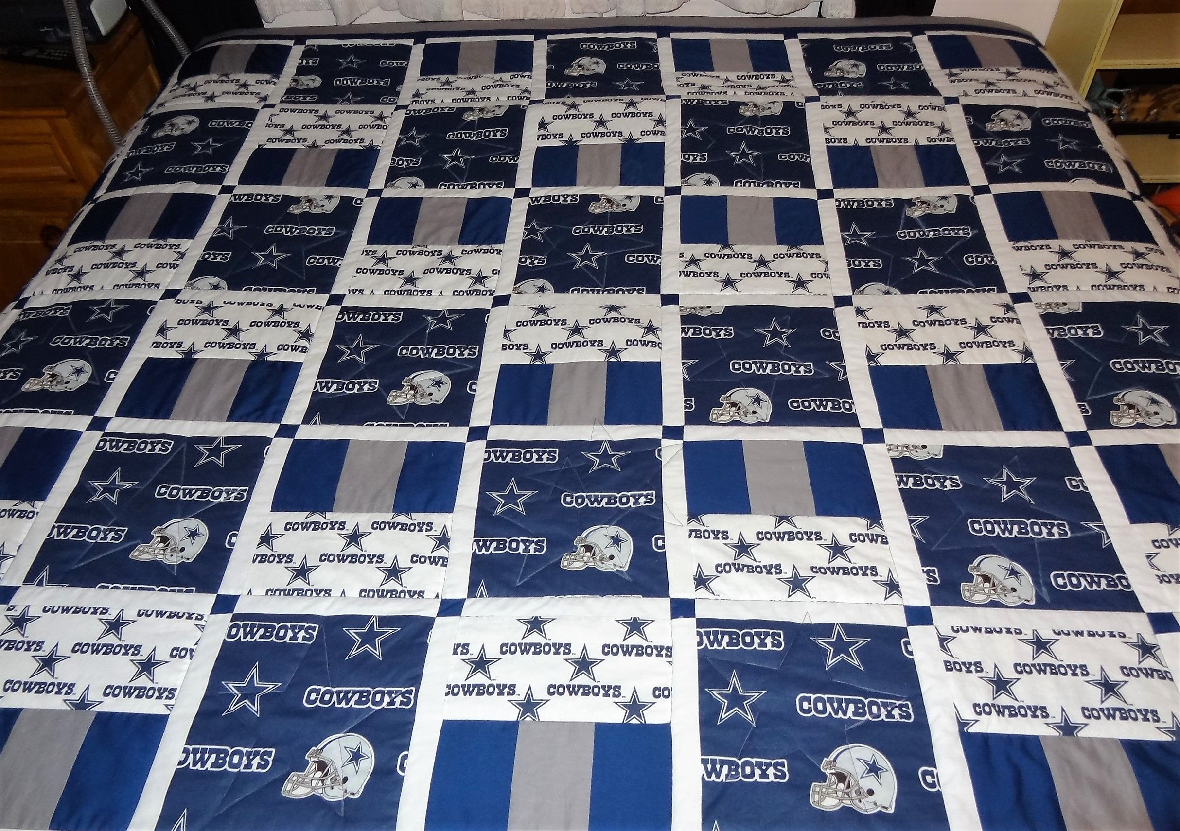 Customer Request For A Dallas Cowboys Quilt For Her King