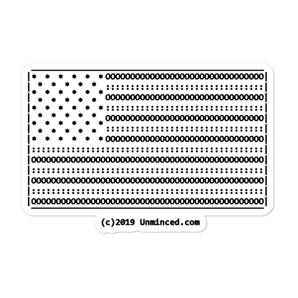 American Flag Ascii Art Bubble Free Stickers Ascii Art American Flag Sticker American Flag