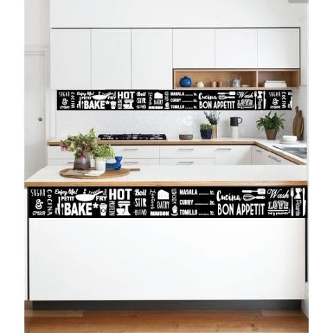 Avalon vinilos decorativos guarda cocina 240x25 cm for Guardas para cocina