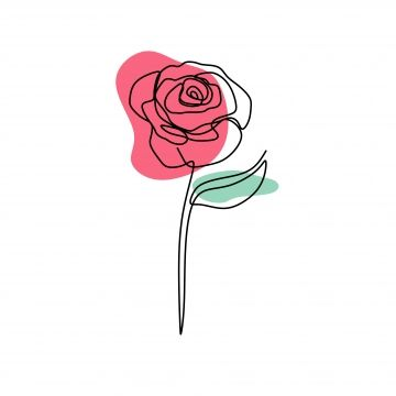 Continuous Line Art Drawing Of Rose Flower Blooming Minimalist Design Vector Illustration Png And Vector In 2020 Line Art Drawings Rose Line Art Line Art Flowers