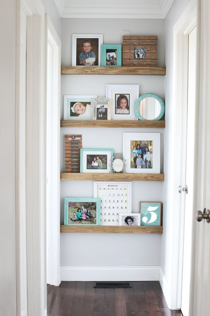 Picture Ledge DIY Floating Shelves #hallwaydecorations