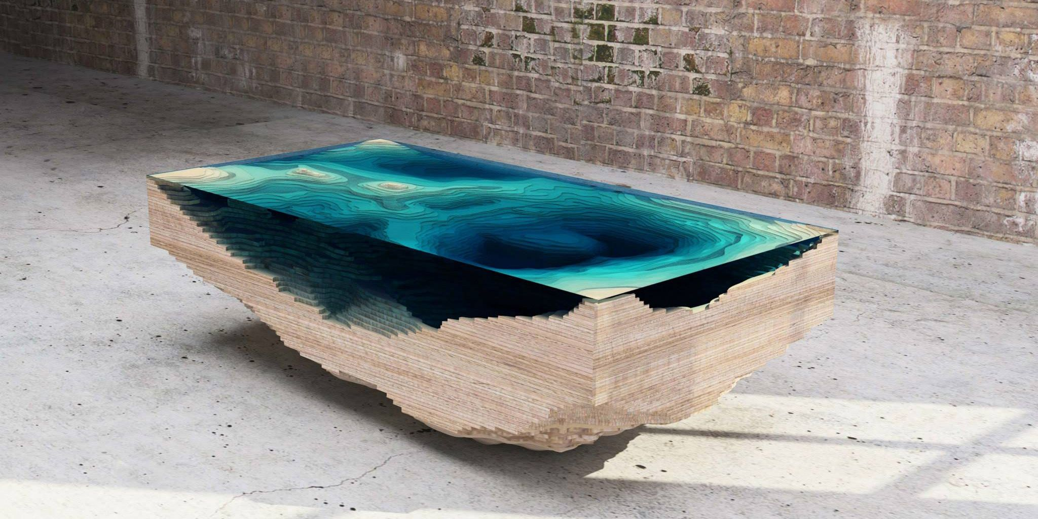 This Amazing Layered Glass Table Mimics The Depths The Ocean