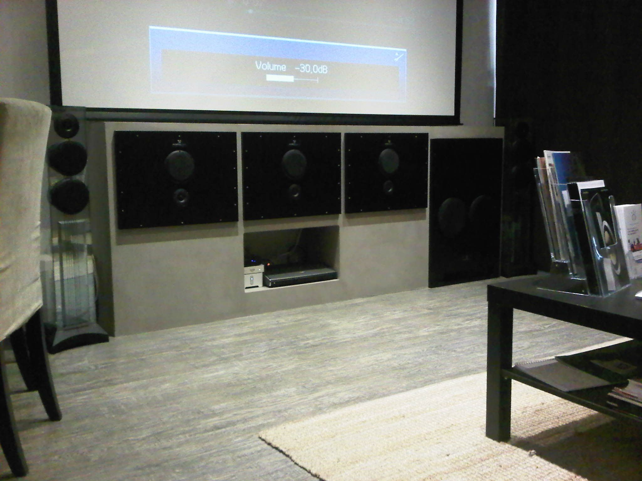 Asc Multimedia In Aix En Provence Showcases A Small Cinema Room With 3 Sat150 1 Sub600 By Waterfall