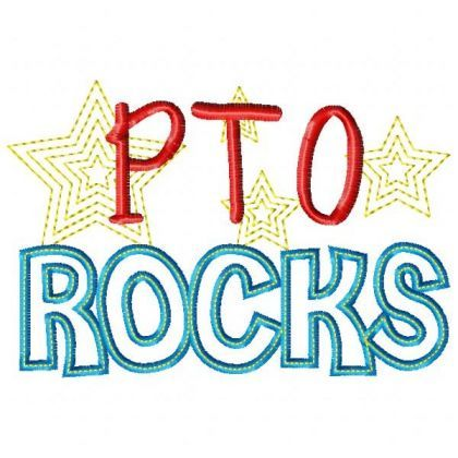 pto rocks embroidery boutique clip art and service projects rh pinterest co uk pta clip art pto clip art free