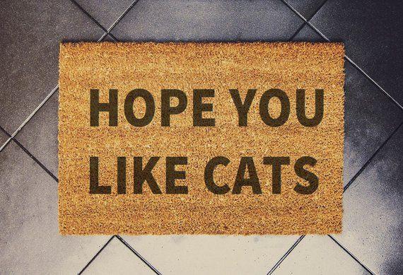 Funny Cat Front Door Mat