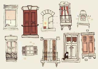 Window drawing  sc 1 st  Pinterest & Window drawing | Art Journal | Pinterest | Doodles Illustrations ...