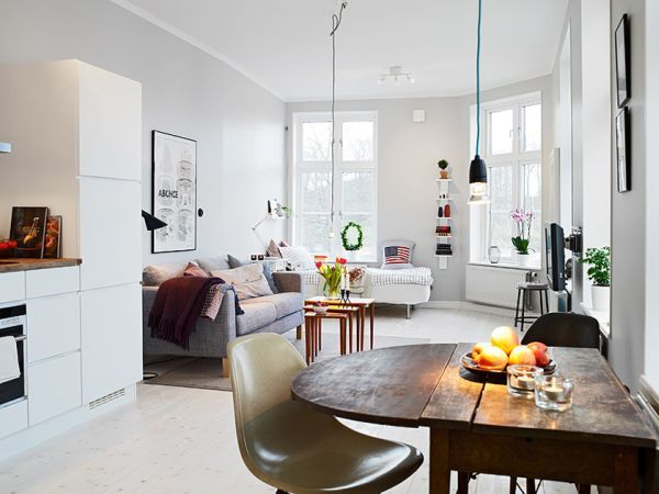 Living big in a tiny studio apartment \u2013 inspiring interior design