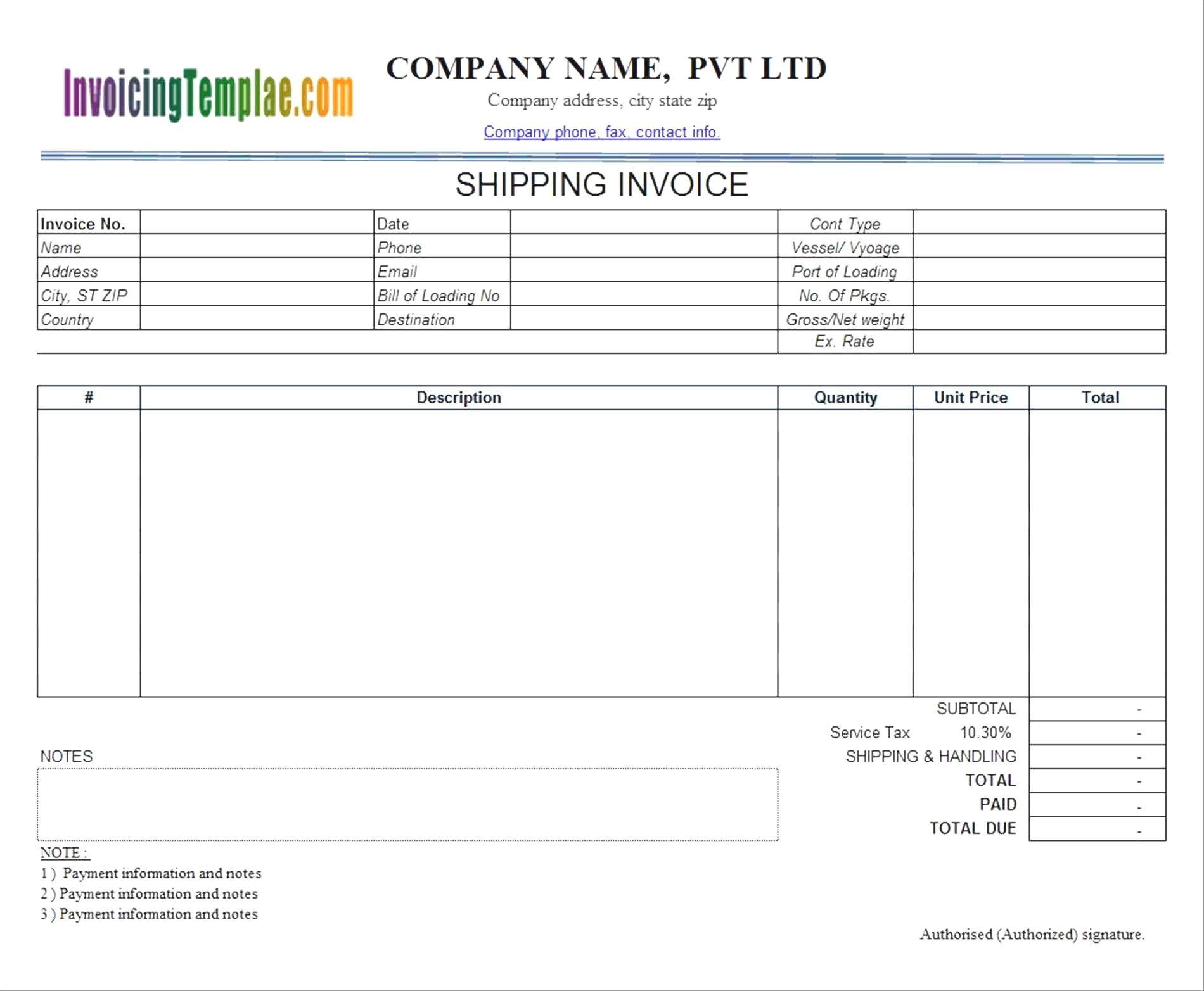 Unique Freight Invoice Template Exceltemplate Xls Xlstemplate Xlsformat Excelformat Microsoftexcel Invoice Template Templates Receipt Template