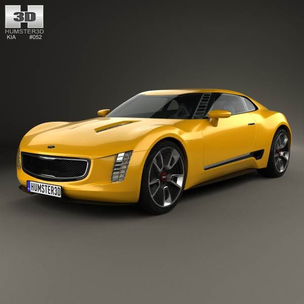 Bmw Z4 Fastback: Kia GT4 Stinger 2014 3d Model From Humster3d.com. Price