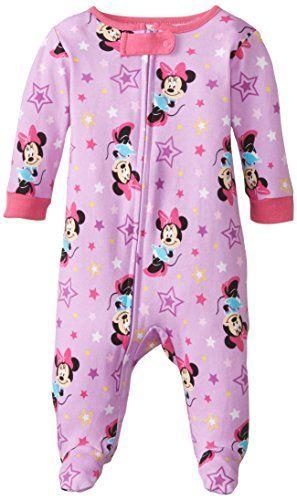 Disney Baby-Girls Infant Minnie Stars All Over Print One Piece Cotton Blanket  Sleeper 96fdd71db