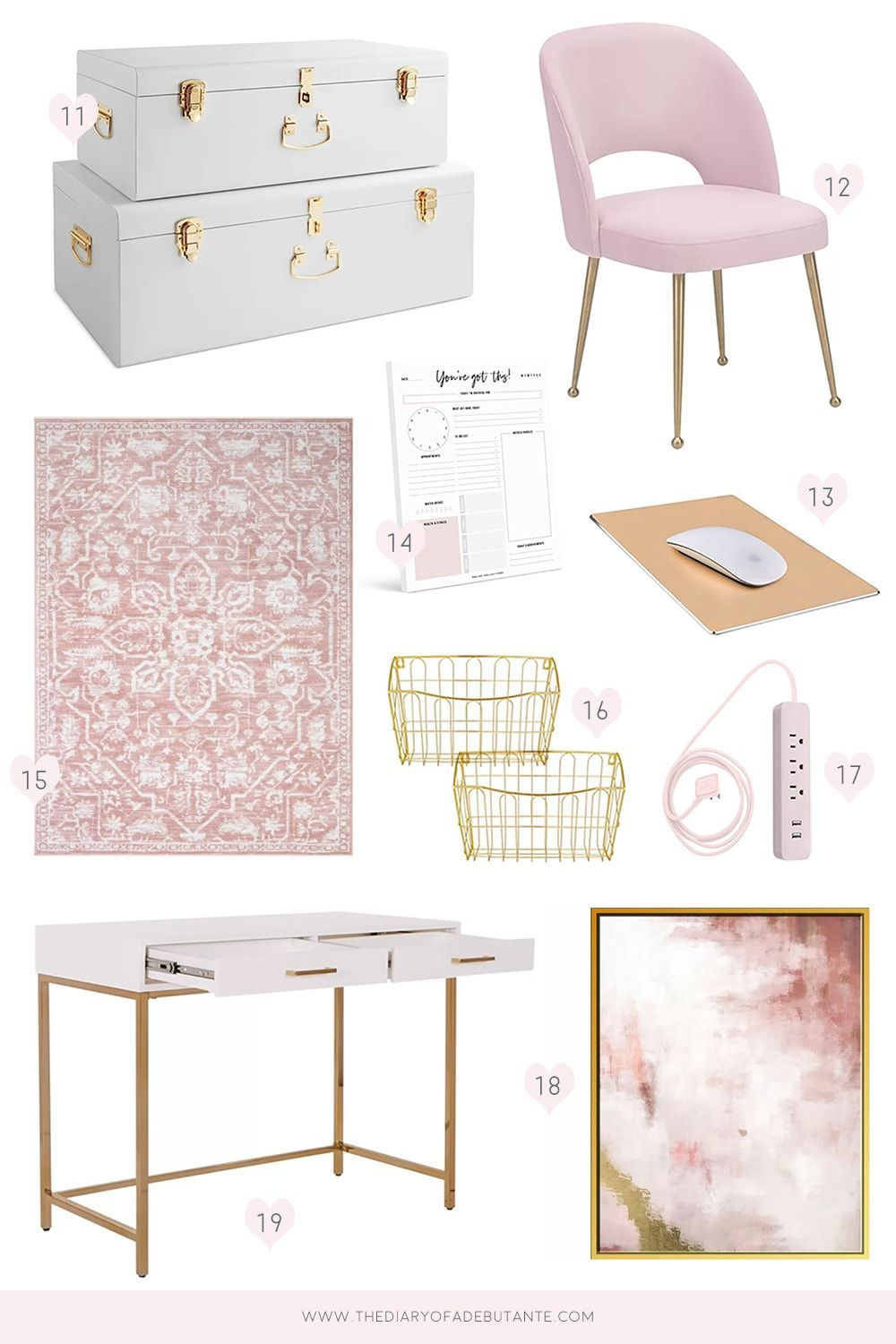 Dress Up Your Desk Casa Company Workspace Diy Chic Workspace Office Cubicle
