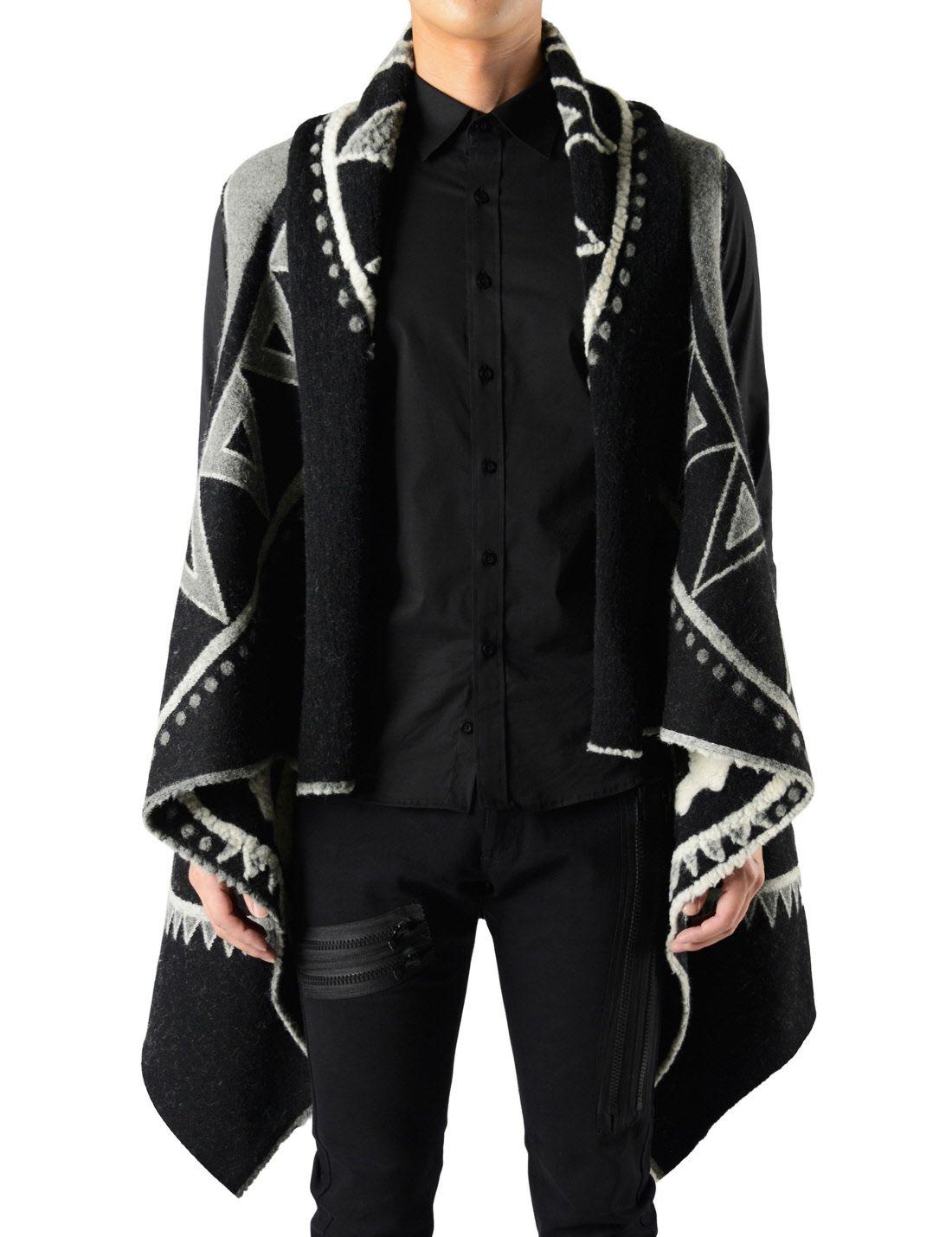 Manteau Unique Poncho Sleeveless Vest Style Cape Cardigan Cloak by ...