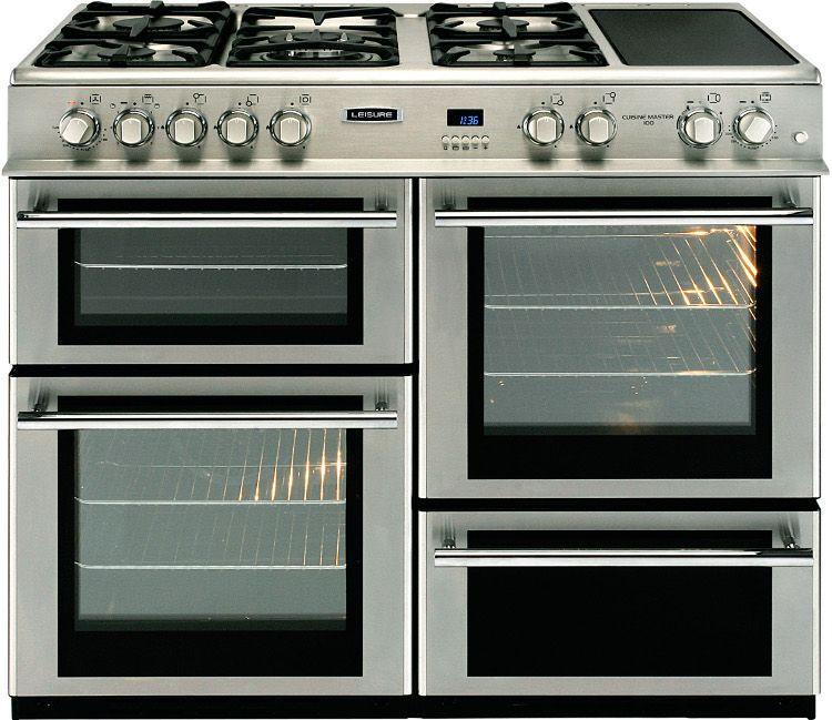 Range Cooker leisure cuisine master professional rcm10frxp 100cm dual fuel range