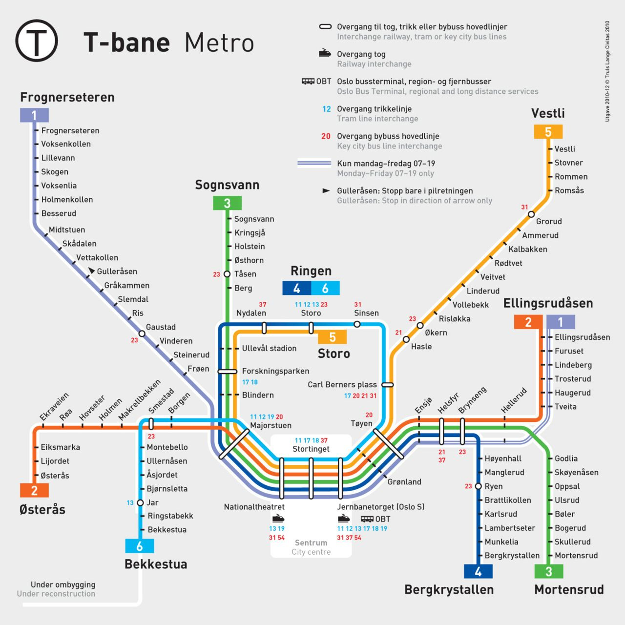 A Subway Map Is A Good Example Of A.Official Map Oslo T Bane Metro Systeman Excellent Example Of A
