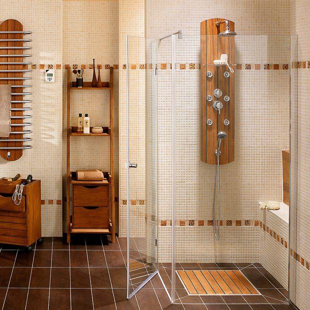 organisation salle de bains carrelage mural habitations pinterest bath room bath and room. Black Bedroom Furniture Sets. Home Design Ideas