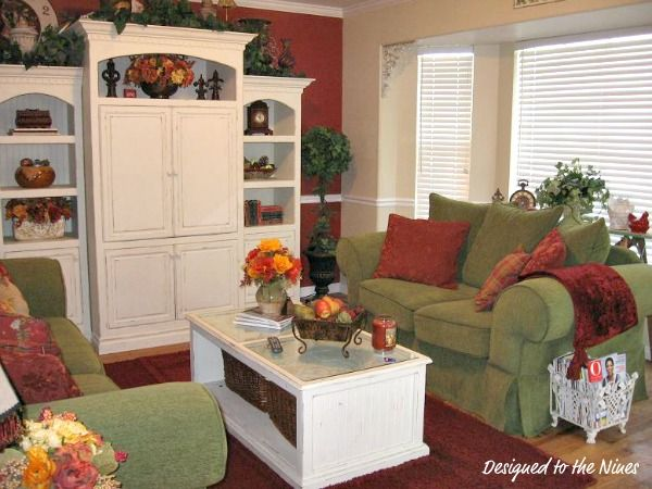 Red And Green Living Room Part 7