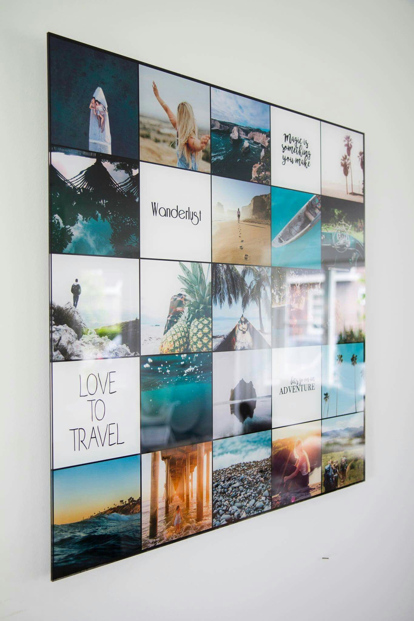 www.instawall.nl is een leuke website om een foto collage te maken ...