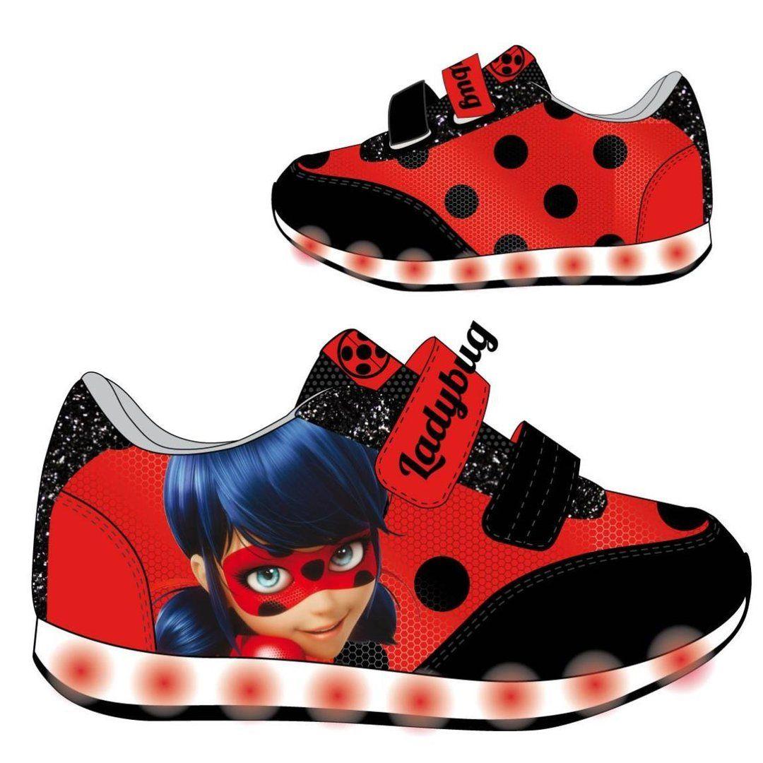 "Zapatillas ""LadyBug Prodigiosa"" con luz"