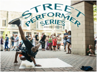 Holland Street Performers Thursday nights June 11 to August 27 6:30-8:30pm