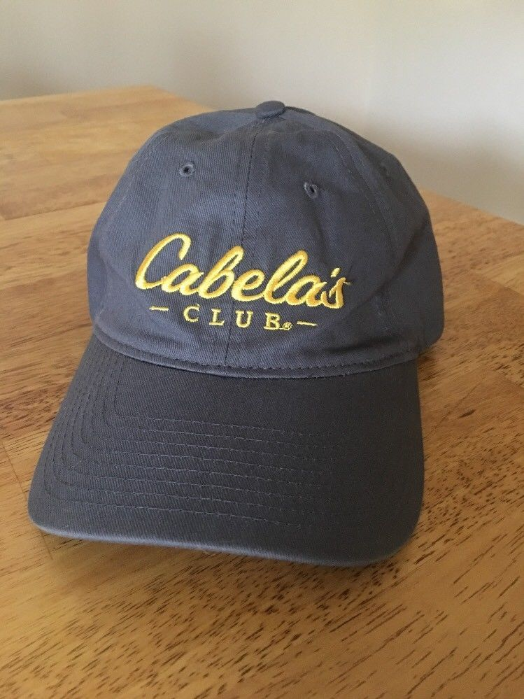 4bc655c0b3195 Cabelas Club Baseball Hat Cap Embroidered Logo Grey Adjustable Strapback   fashion  clothing  shoes  accessories  mensaccessories  hats (ebay link)