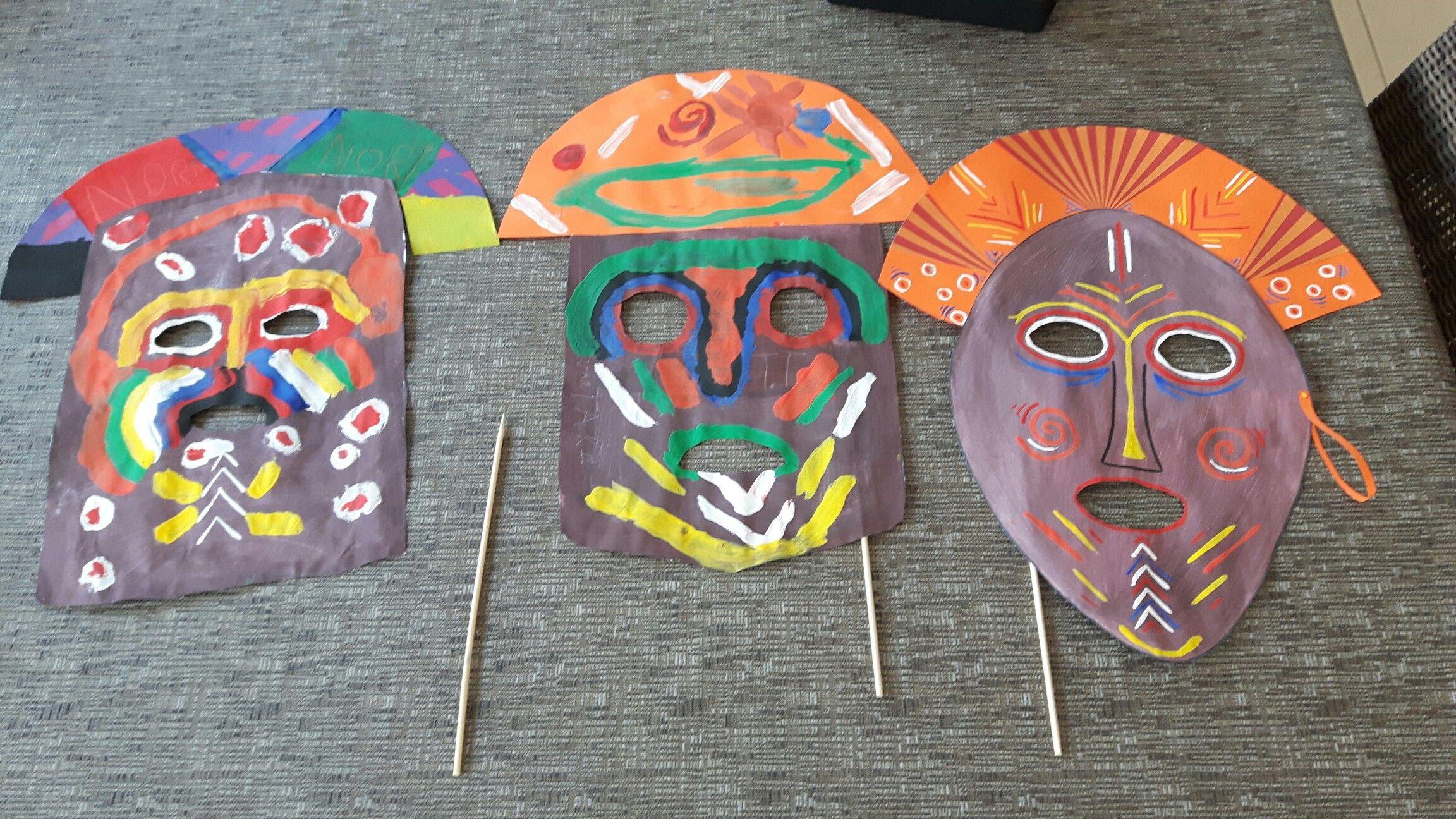 Afrikaanse Maskers Knutselen Afrikaans Maskers