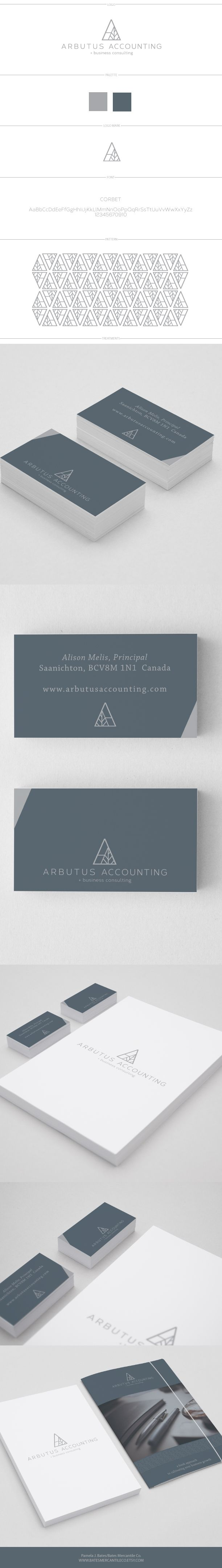 logo design for Arbutus Accounting by Pamela J. Bates, Bates Mercantile Co. #logo #logo design #graphic design #branding #branding design #collateral #accounting logo #business logo