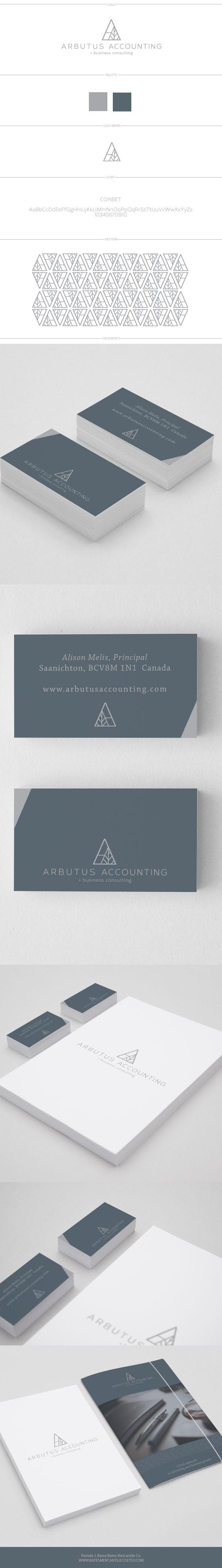 logo design for Arbutus Accounting by Pamela J. Bates, Bates Mercantile Co. #logo #logo design #graphic design #branding #branding design #collateral #accounting logo #business logo
