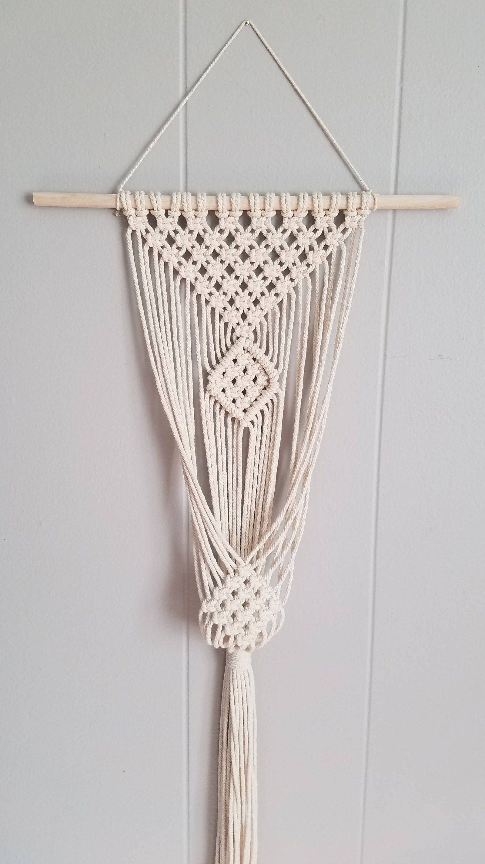 clove hitch single plant hanger macrame plant wall on wall hanger id=29521