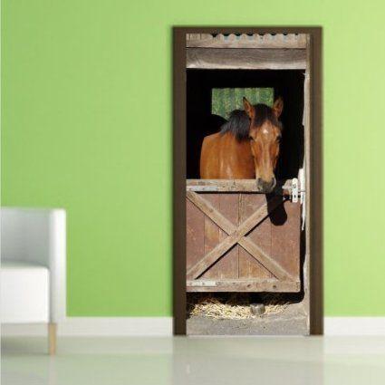 Selbstklebende Turfolie Doorskin Turposter Doorprint Turaufkleber Pferderstall Ca 100cm X 210cm Breite X Hohe Amazon De Turposter Turaufkleber Kunstwerke