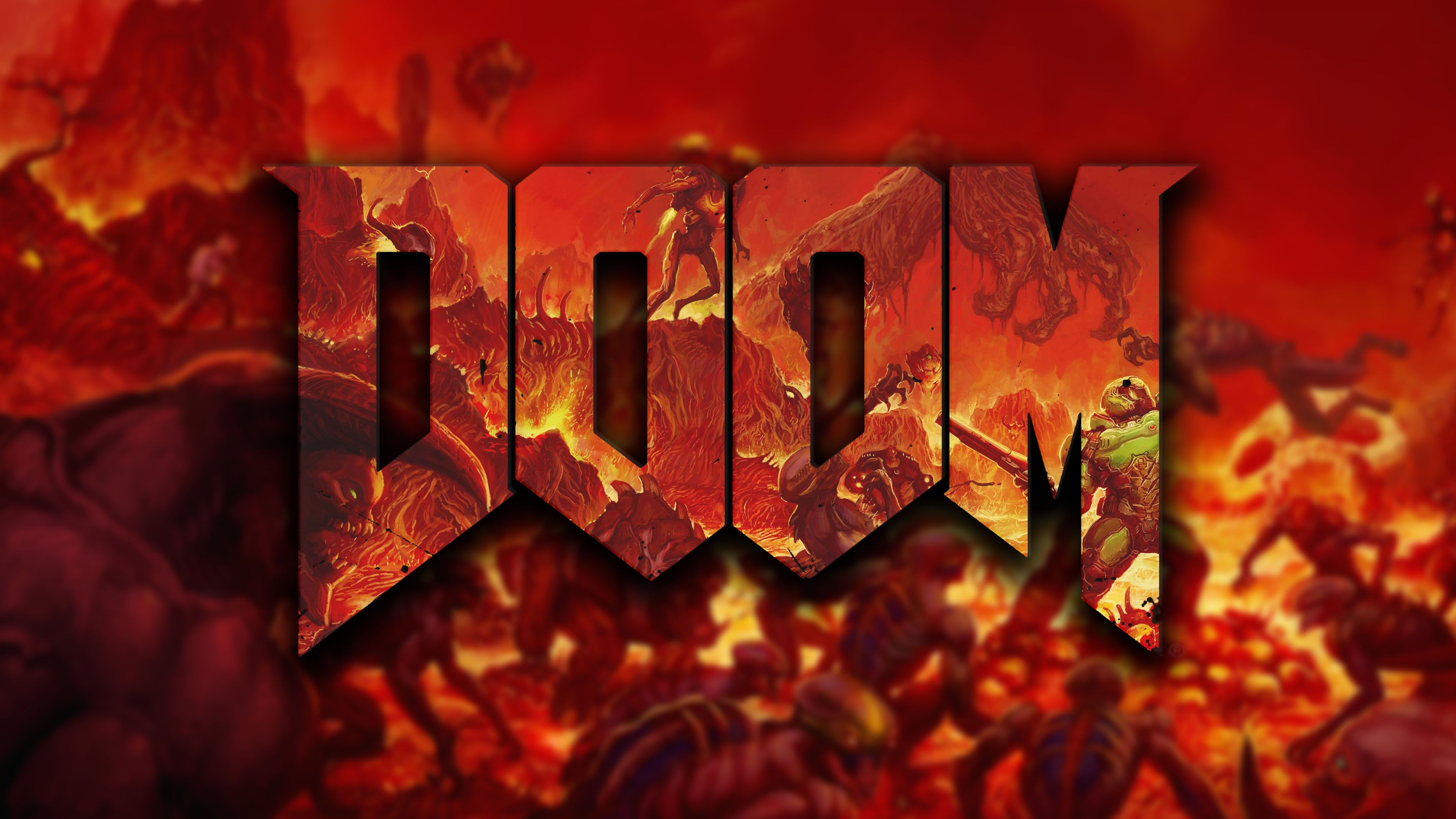 General 3840x2160 video games Doom (game) Background hd