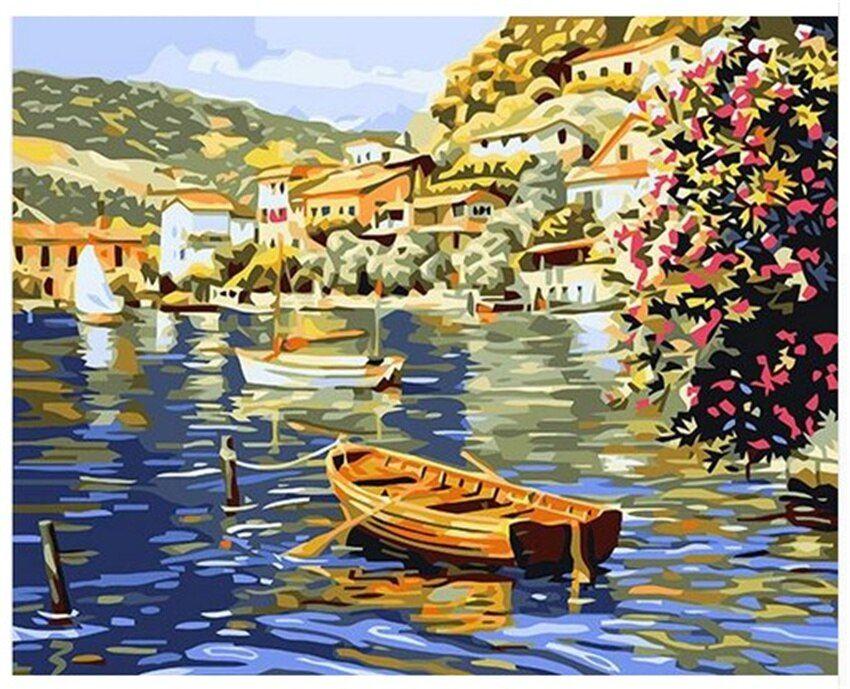 Diy digital painting by numbers package lakeside rippling