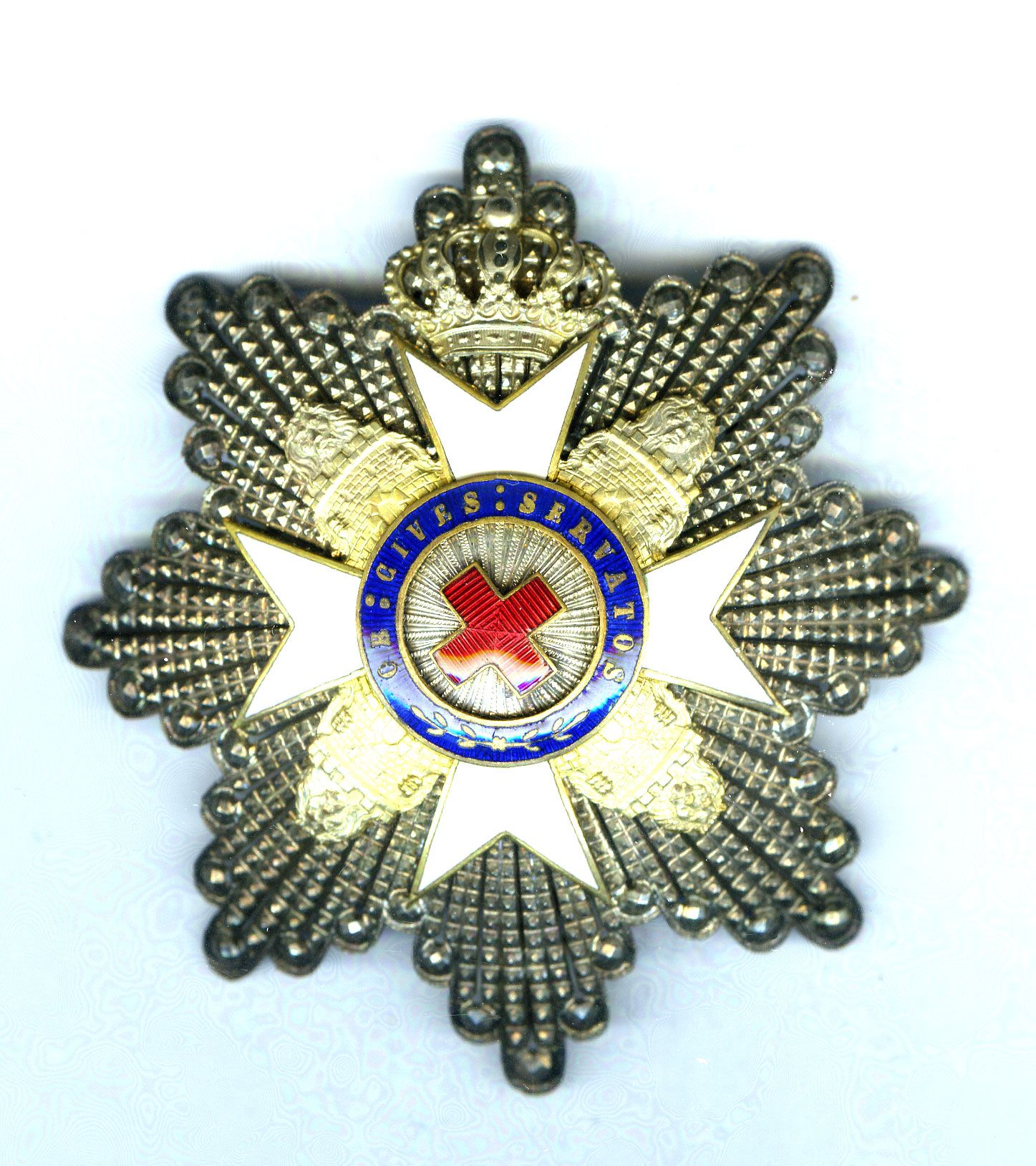 red cross order grand cross breast star 2nd type 1899
