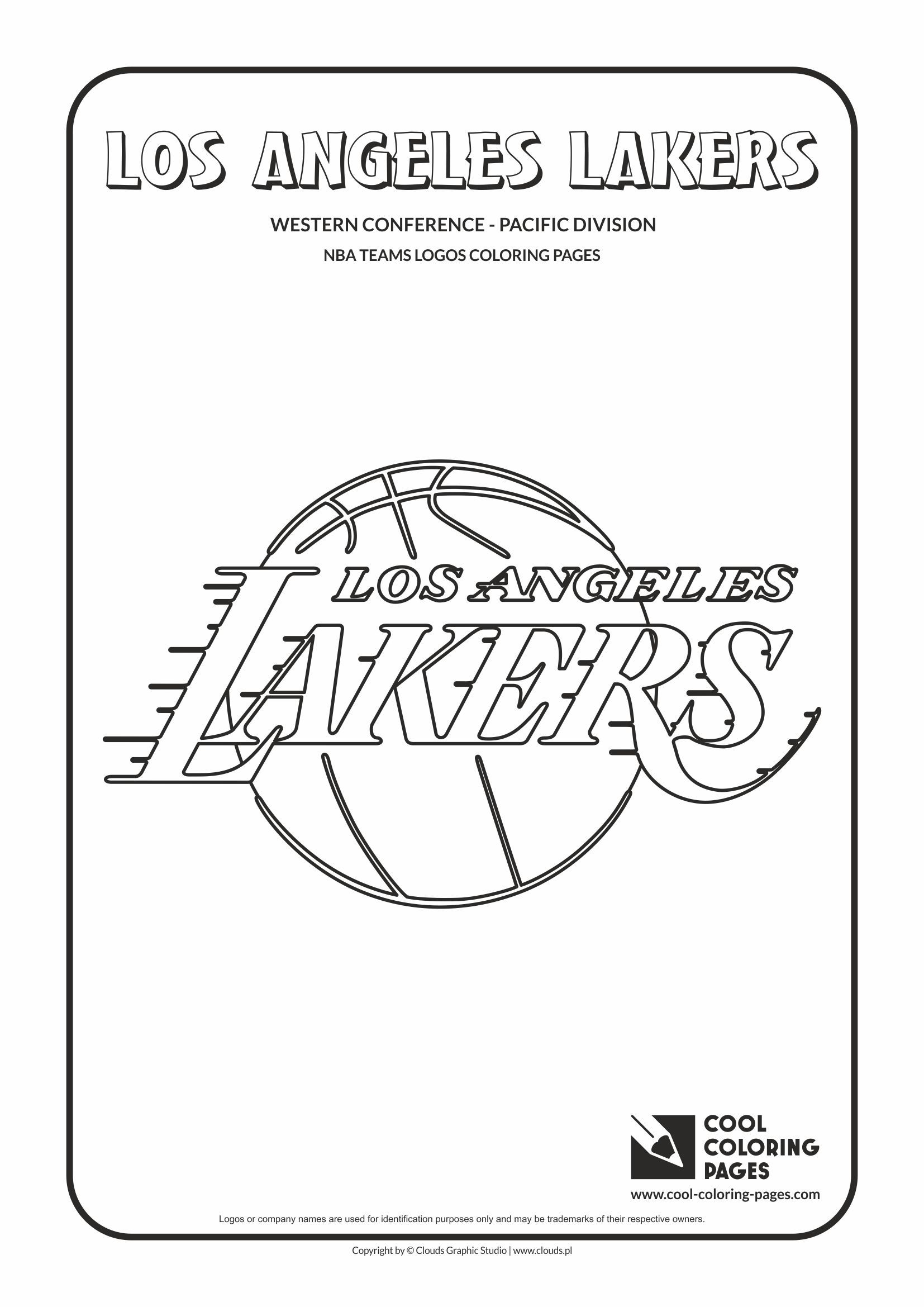 Coloring pages nba - Cool Coloring Pages Nba Basketball Clubs Logos Western Conference Pacific