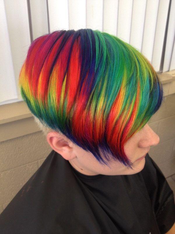 Rainbow Hair Color Hair Styles Rainbow Hair Color Bright Hair