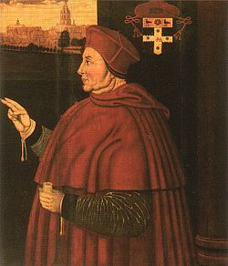 Sampson Strong's portrait of Cardinal Wolsey at Christ Church (1610).