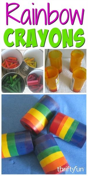 making rainbow crayons from broken pieces craft projects