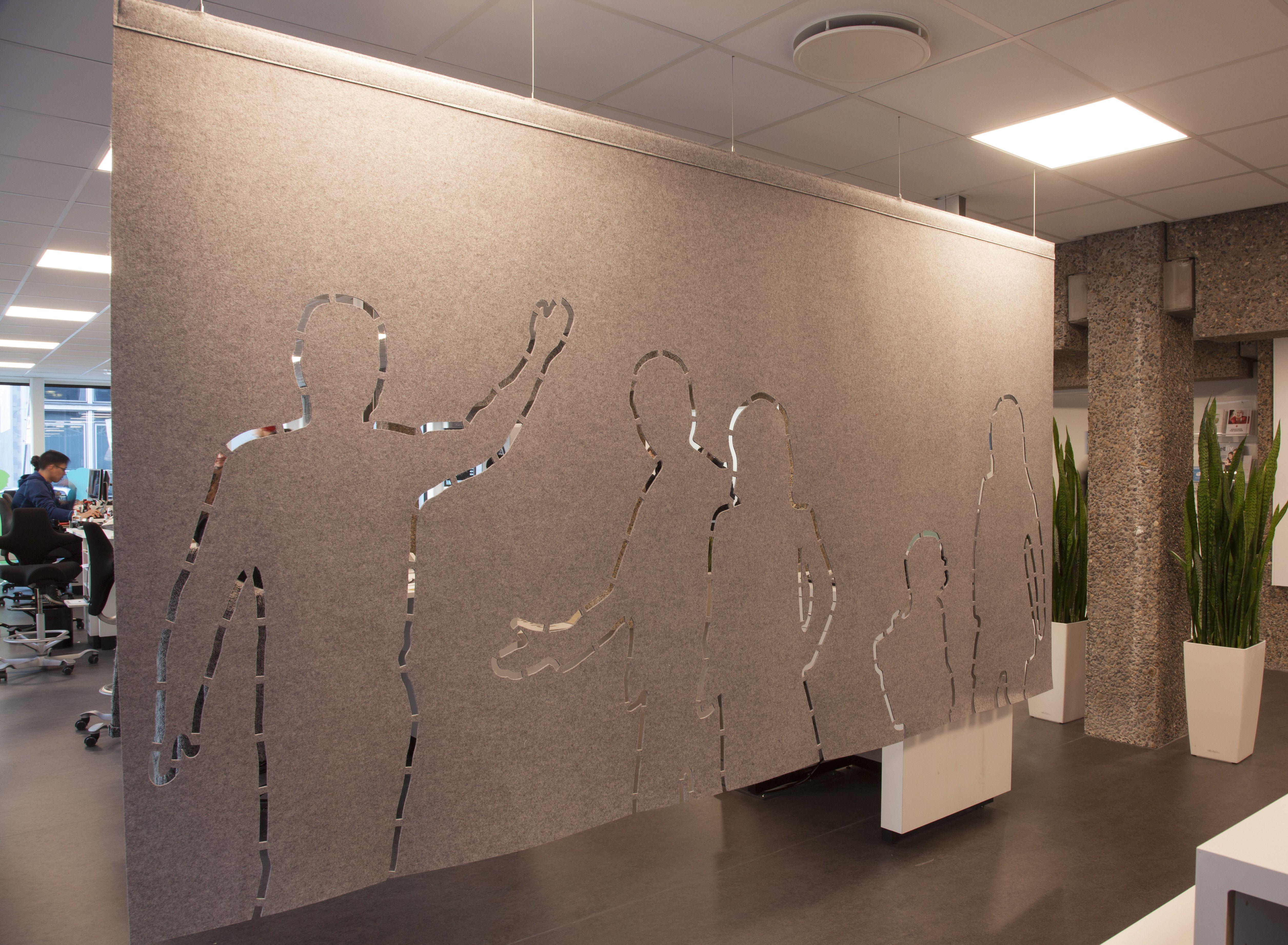 fraster filt brugt som h ngende rumdeler med udsk ret m nster indretning med filt pinterest. Black Bedroom Furniture Sets. Home Design Ideas