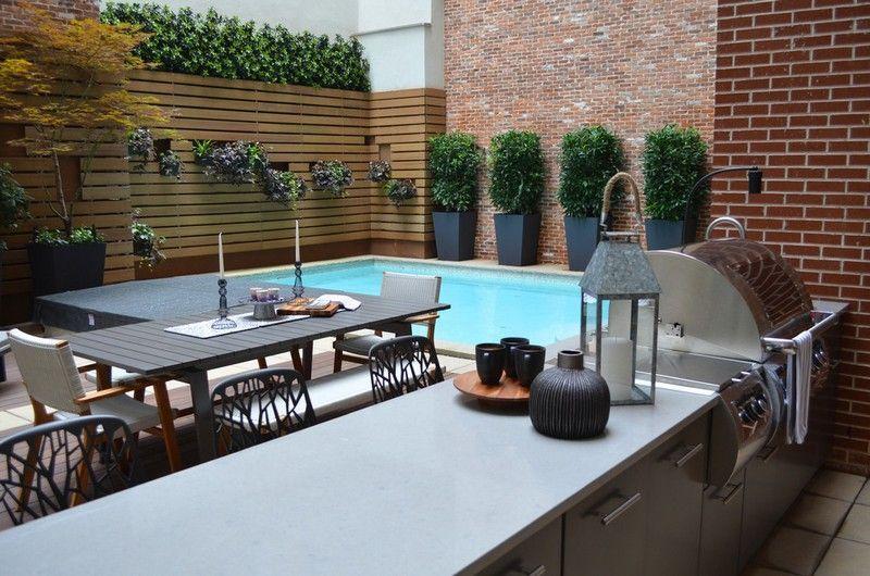 amnagement petit jardin dans larrire courides modernes cuisine exterieurgaleries - Photo Cuisine Exterieure Jardin