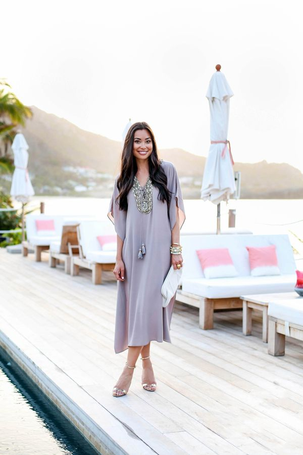 Embellished Kaftan at Sunset | With Love From Kat