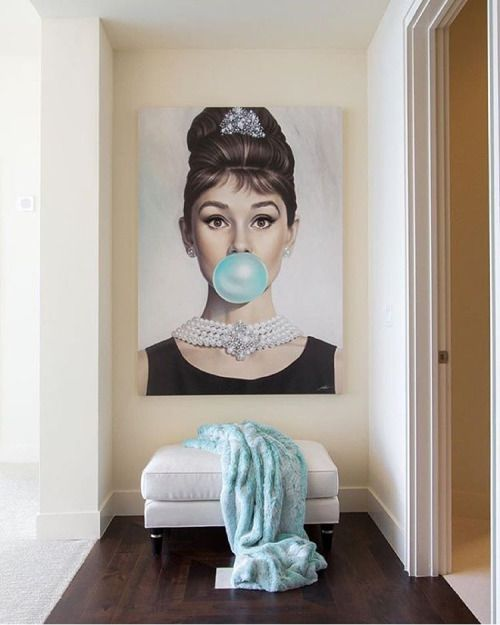 Tiffany Blue, Michael Moebius. We love seeing our artists transforming spaces…