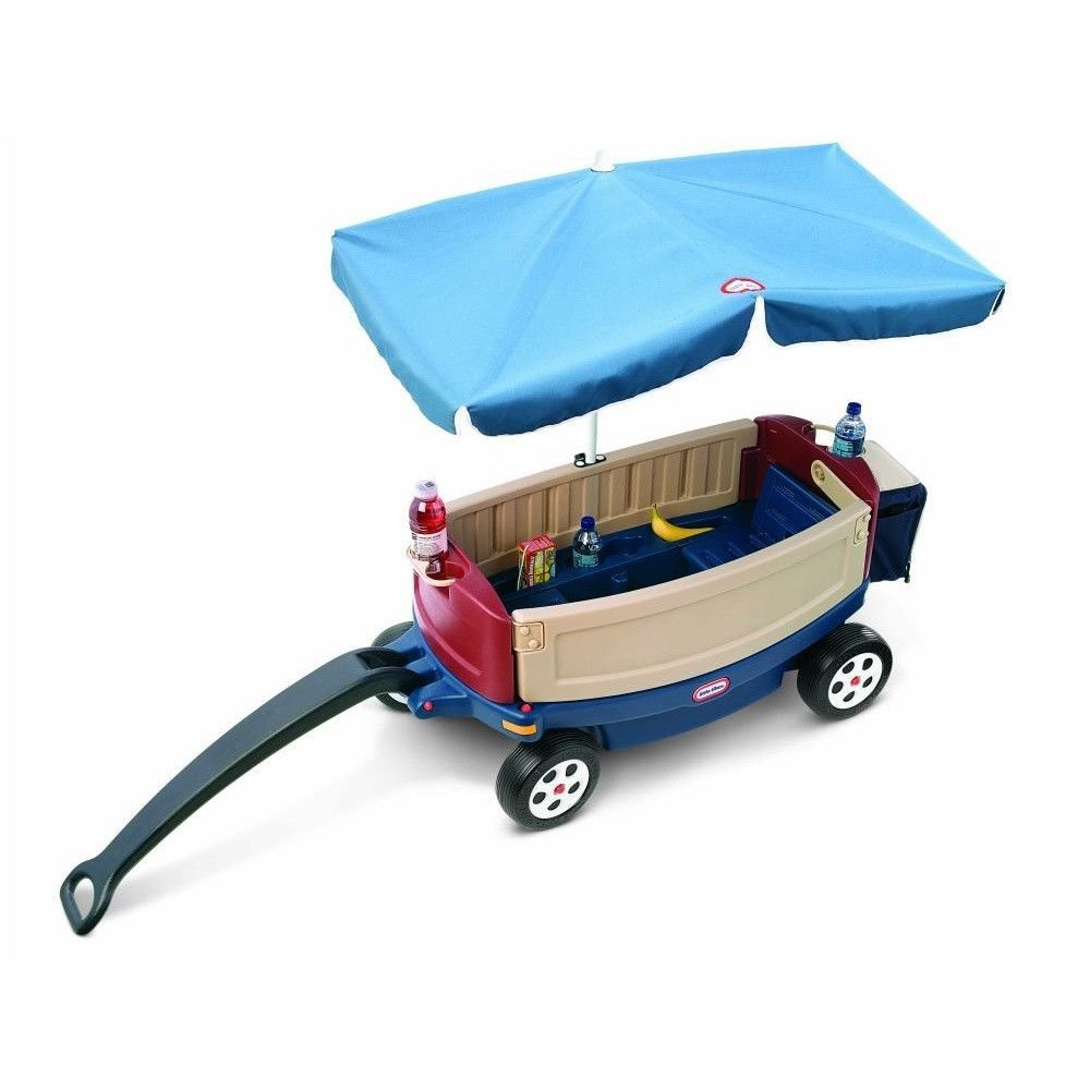 Deluxe Wagon With Umbrella and Cooler http://bobbiejosonestopshop.com/products/deluxe-wagon-with-umbrella   #BobbieJosOneStopShop #Wagon #Cooler #Umbrella #kids #toddlers #push #pull #picnic #bench #outdoors #Cozy #Relax