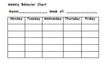 This Is A Reproduceable Sheet With Six Weekly Behavior Charts I Use My Students Stickers For Good Days And Have C