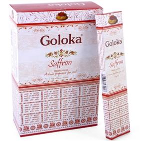 #Goloka #Saffron Masala #Incense #Sticks Pack of 12