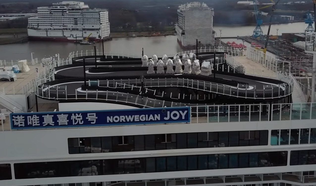 Norwegian Cruise Ship Has A Ferrari GoKart Race Track Rides - Track a cruise ship