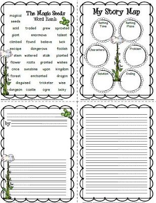 FREE Magic Seeds Writing Templates And Word Bank From Sailing Through 1st  Grade  Free Book Writing Templates For Word