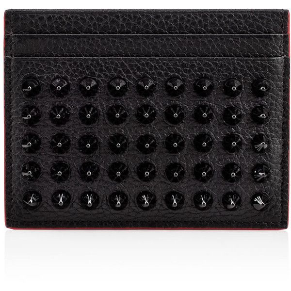 Christian Louboutin Kios Simple Card Holder 280 Liked On Polyvore Featuring Bags Walle Card Carrier Wallet Leather Credit Card Holder Real Leather Wallet