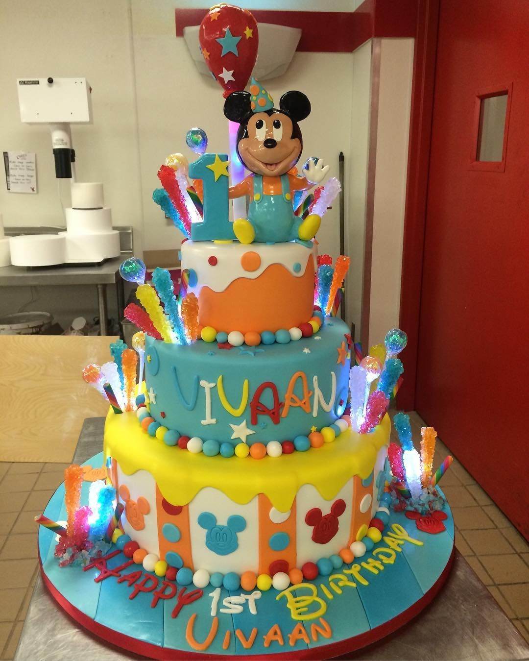 Mickey Mouse 1st Birthday Cake: Baby Mickey Mouse 1st Birthday Cake By Buddy Valastro
