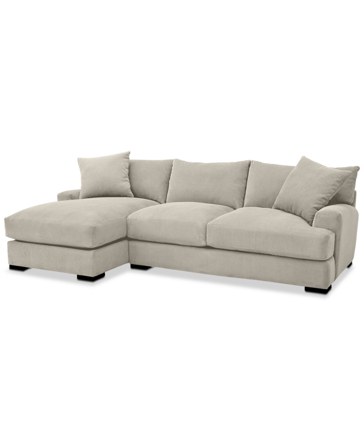 Rhyder 2 Pc Fabric Sectional Sofa With Chaise Created For Macy S