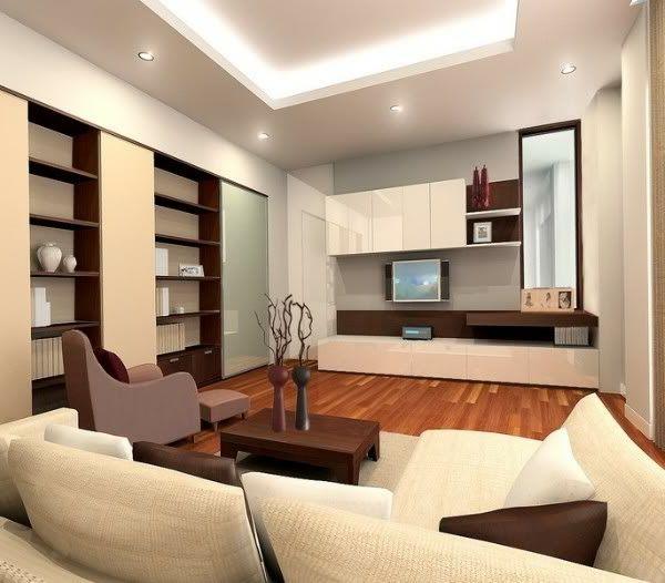 Hängedecken beleuchtung Deckengestaltung im Wohnzimmer eingebaut