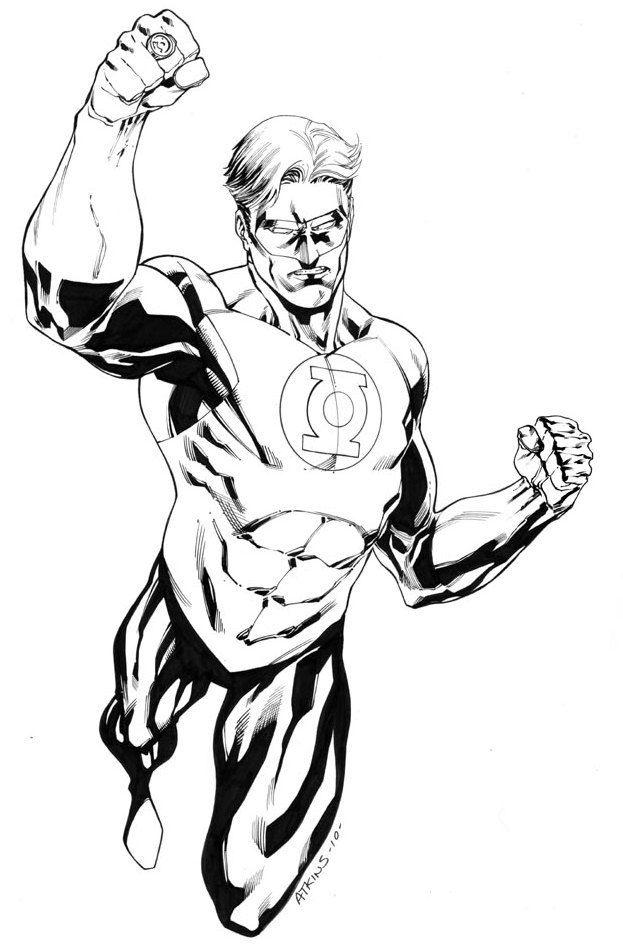 Green Lantern Coloring Page American Comic Book Superhero Superhero Coloring Pages Superhero Coloring Green Lantern
